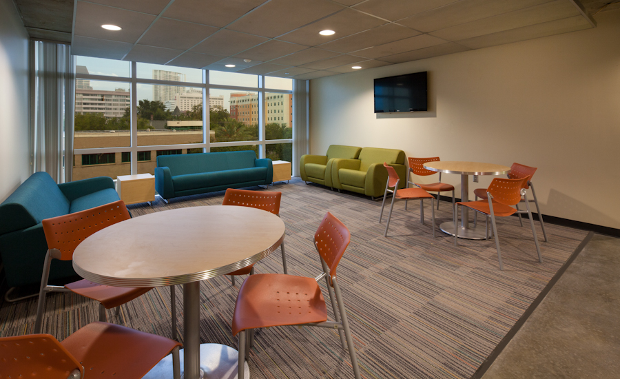 Typical Student Lounge at Residence Hall, view to northeast