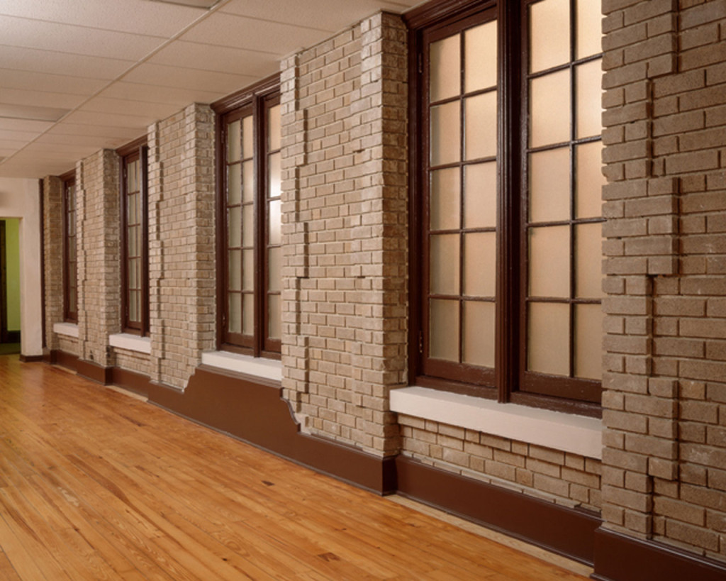 East Courtroom Windows on Addition's Hallway
