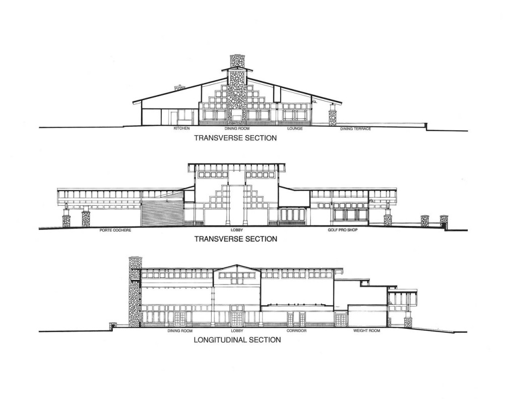 Sections through Clubhouse