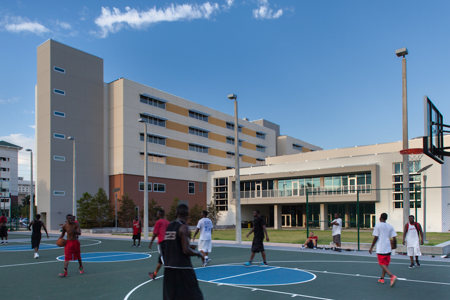 view of West Elevation from Student Recreation Area