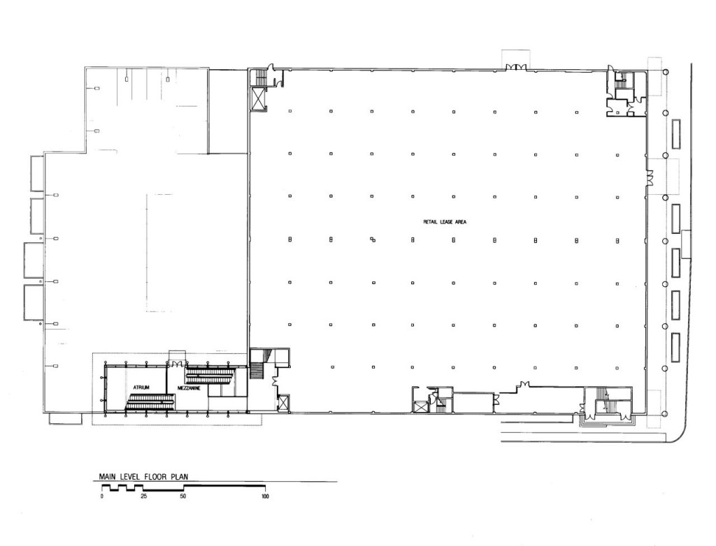 Main Level Floor Plan - Retail Space