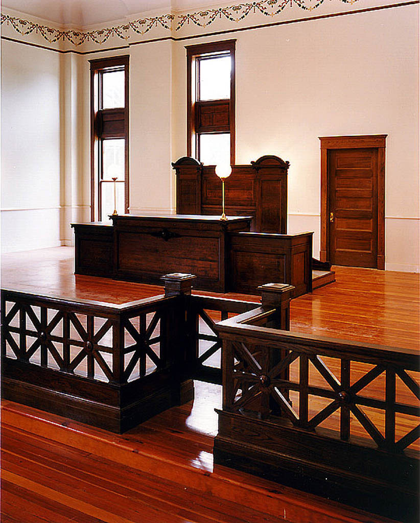 Courtroom with Restored Original Judge's Bench