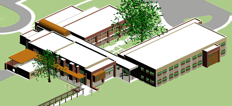 Study Model view from southwest