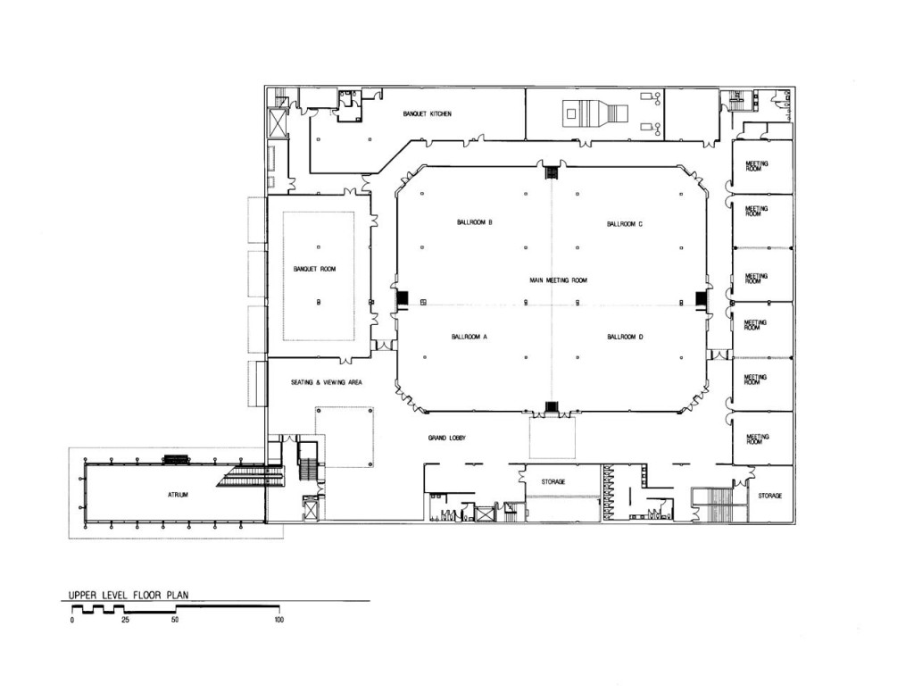 Upper Level Floor Plan - Convention Hall