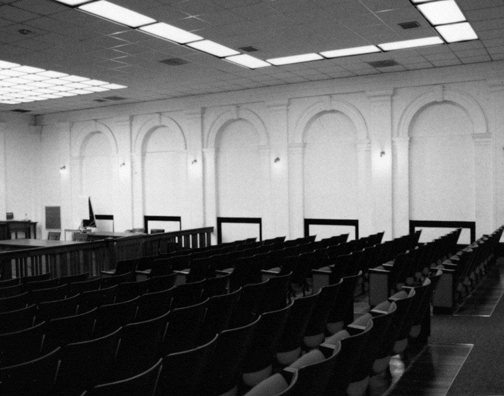 Courtroom, East Side before Rehabilitation
