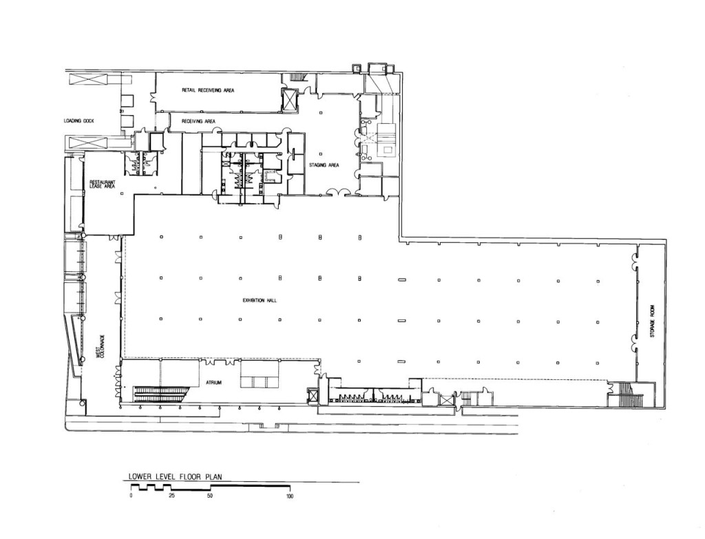 Lower Level Floor Plan - Exhibition Hall