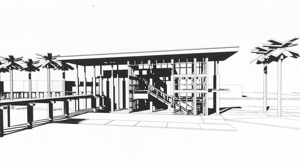 Section Perspective thru Atrium