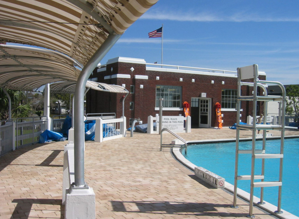 Pool Deck and Headhouse West Facade