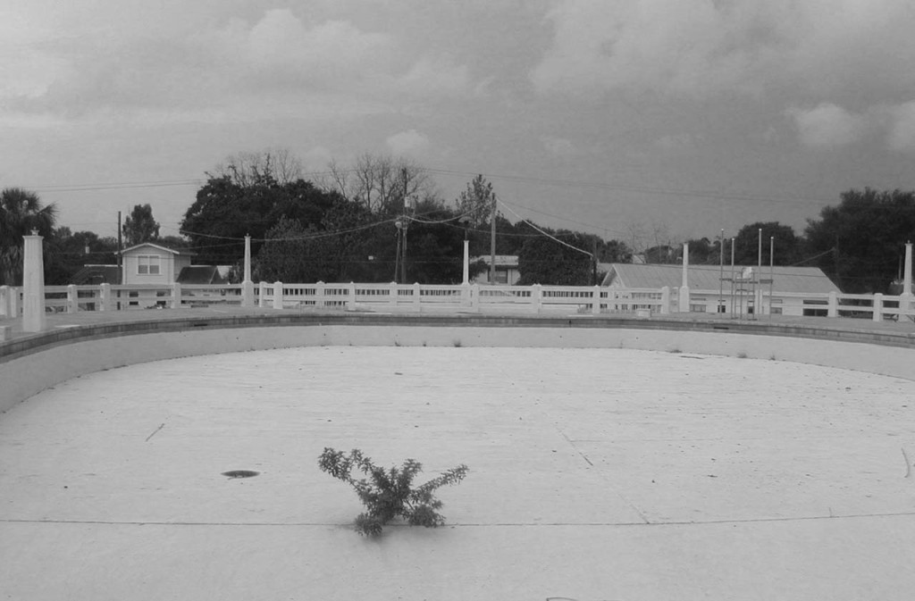 Pool Looking West before Rehabilitation