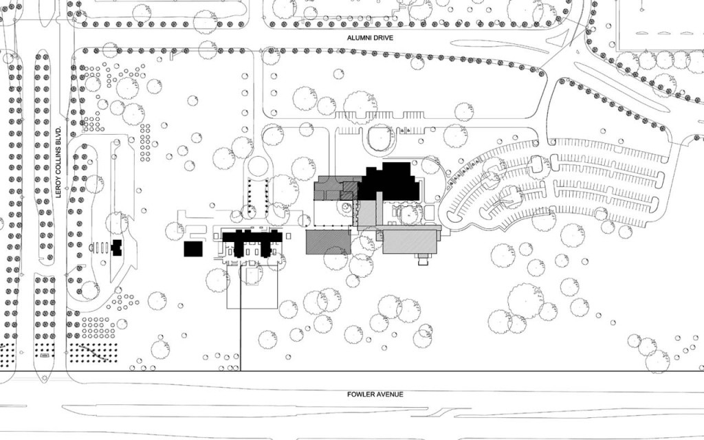 Site Plan with Future Phases to west
