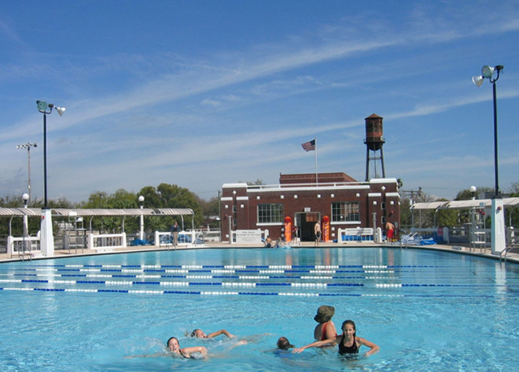 Pool and Headhouse West Facade